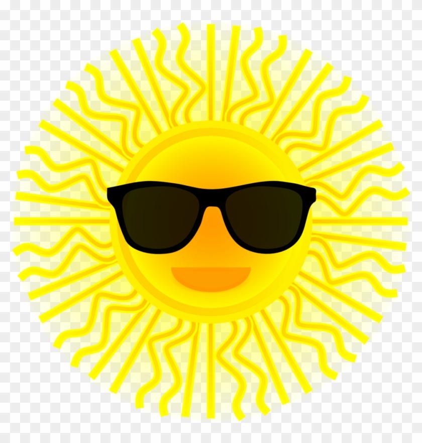 Sunshine Clipart Sunglass Clipart - Sunglasses On A Sun #68306