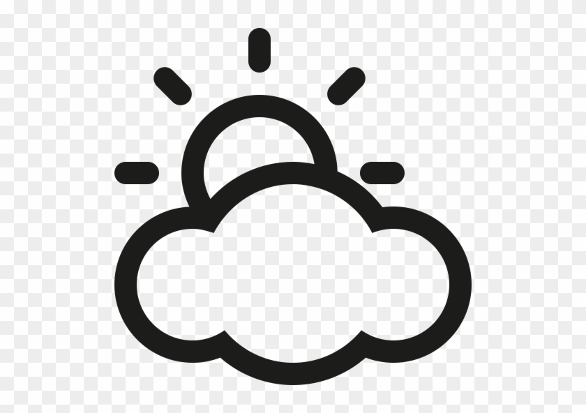 Clip Art, S - Sunny Cloudy Weather Icon #68304