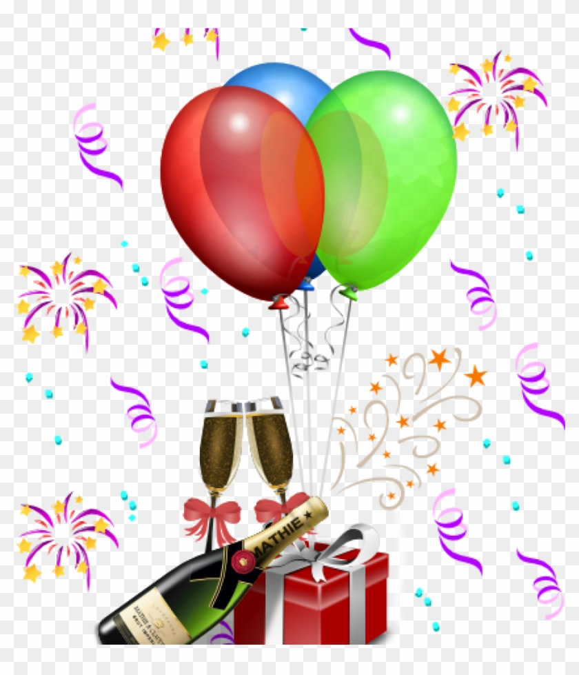 Happy Birthday Clip Art For A Man Free Birthday Clip - Happy New Year And Happy Birthday #68327