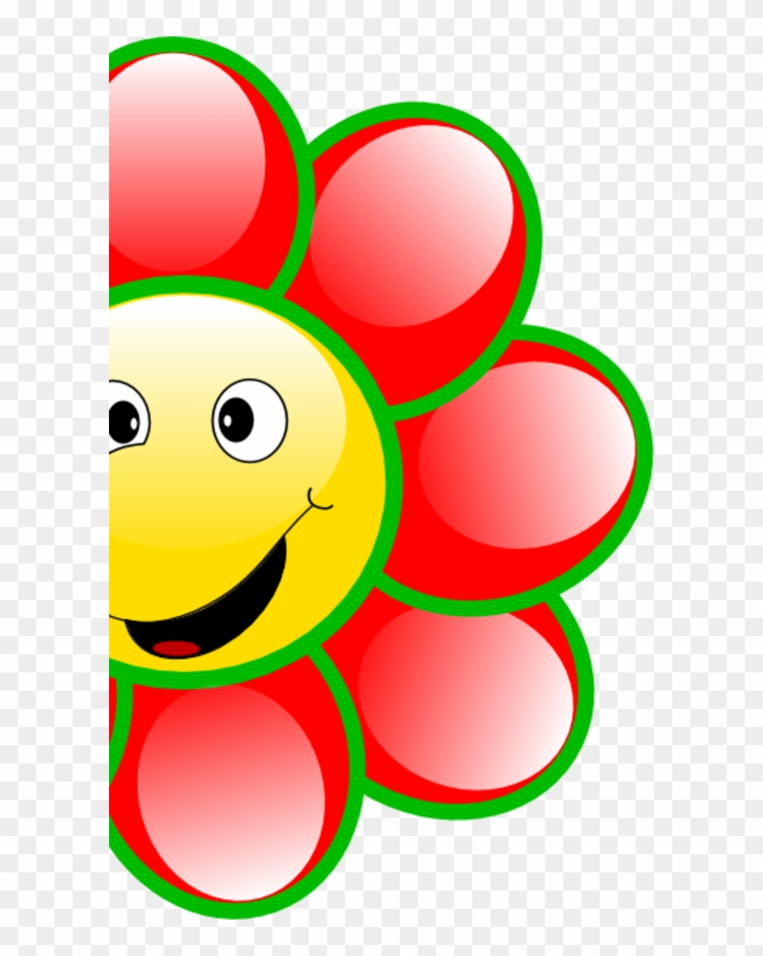 Smiley Flower Cliparts - Smile Face Flower Clipart #68476
