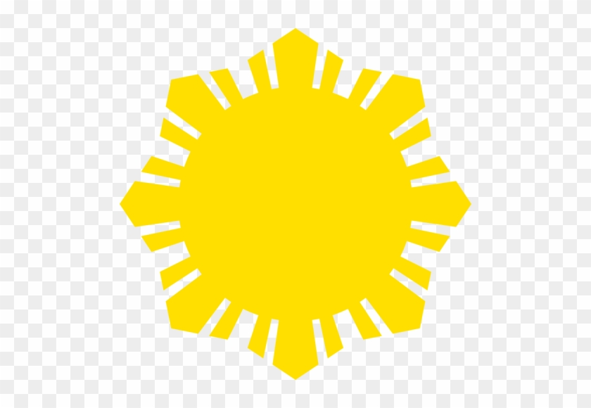 Phillippine Flag Sun Symbol Yellow Silhouette Vector - Filipino Sun #68477