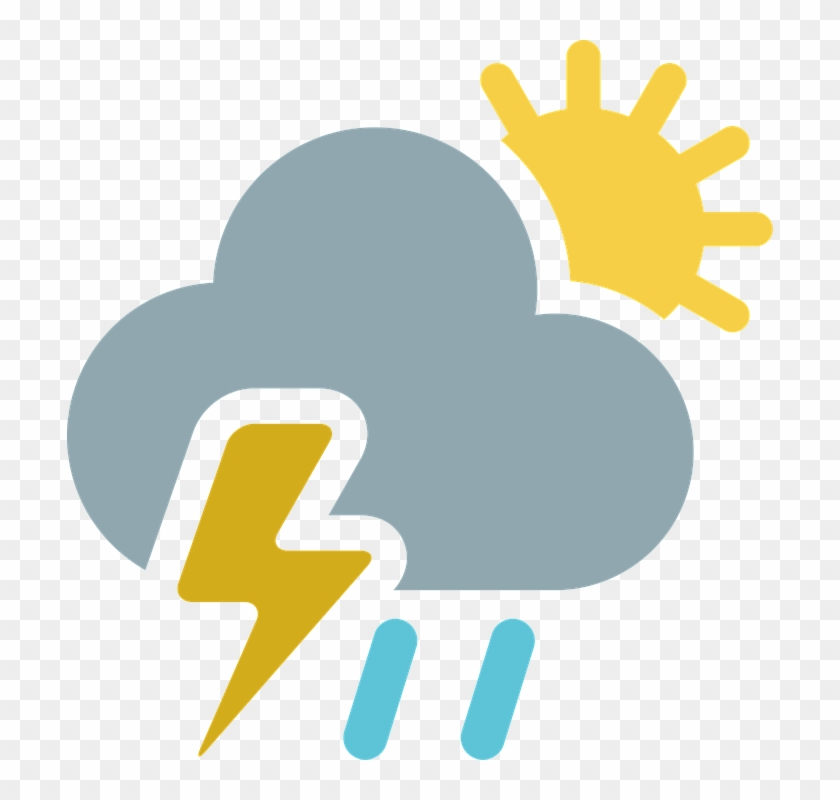 Free Illustration Cloud Partly Cloudy Sun Rain Image - Weather #68478