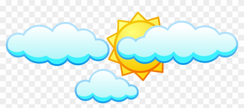Clipart - Sun And Clouds Png #68556