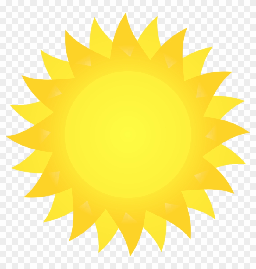 Sunshine Clipart Noon Sun - Cartoon Sun With Black Background #68626