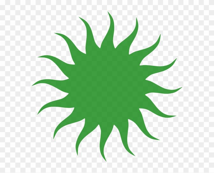 How To Set Use Green Sun Svg Vector - Greek God Apollo Symbol Sun #68797