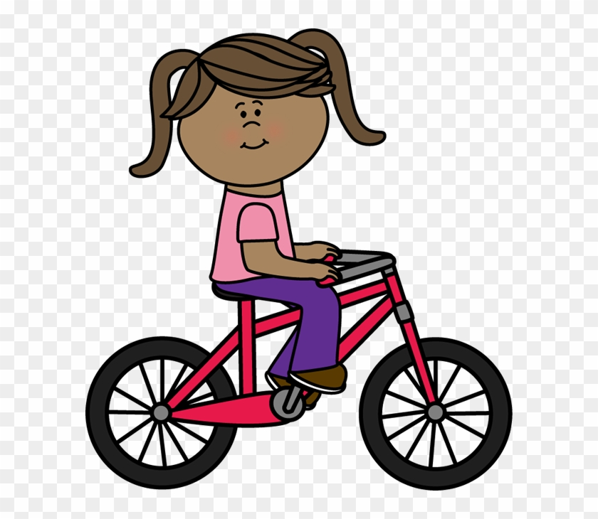 Clipart Girl Riding Bike A Bicycle Clip Art Image