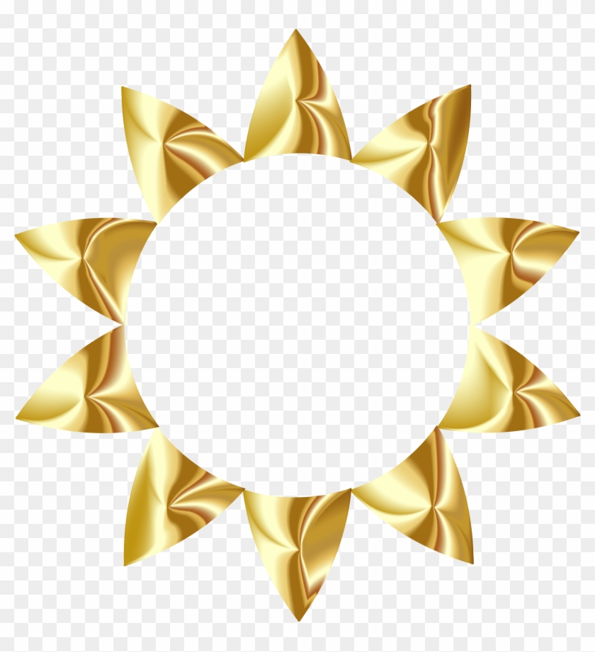 Clipart - Gold Sun No Background #68879