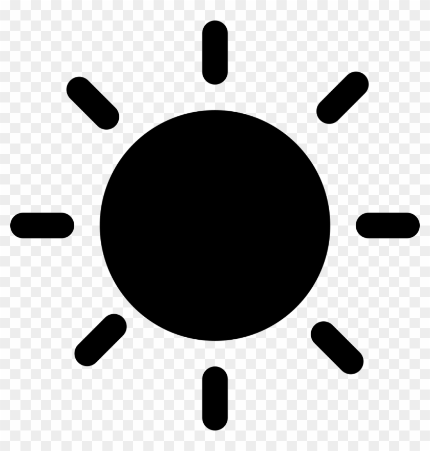 Solid Black Sun Symbol Comments Afternoon Icon Png Free