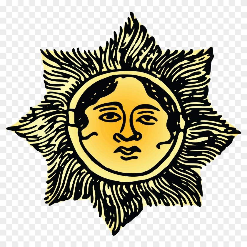 Free Clipart Of A Sun Face - Suns In Orange Mugs #68949