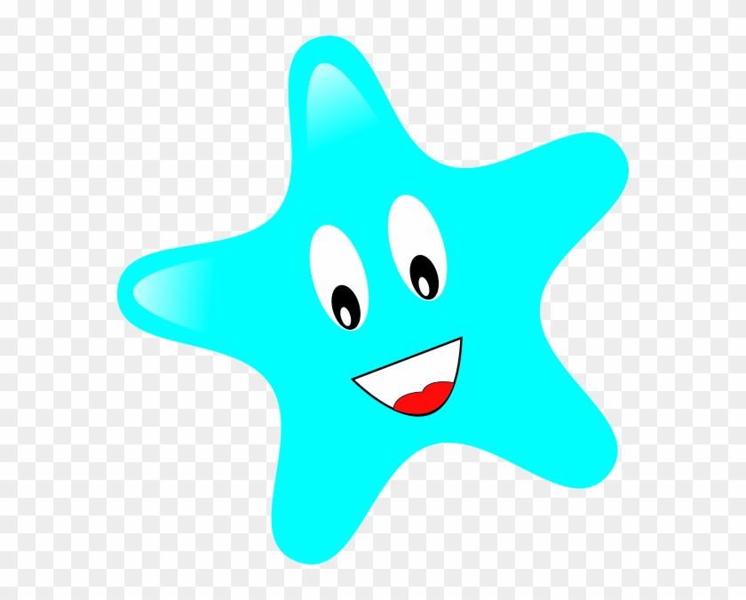 Smiley Star Clip Art At Clker - Smiley Stars #68981