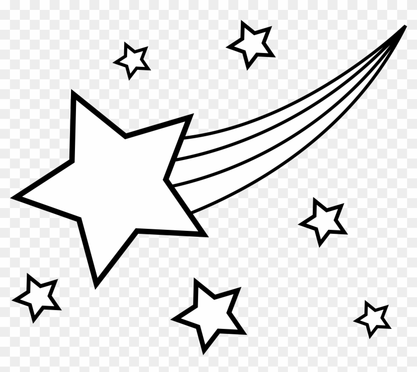 Clip Arts Related To - Shooting Star Coloring Page #69003