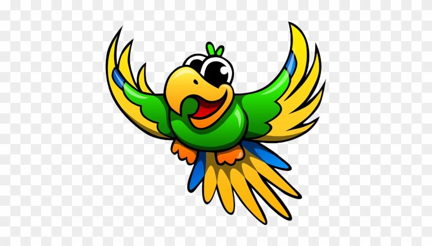 Cute Parrot Png Image - Cartoon Parrot Transparent Background #69227