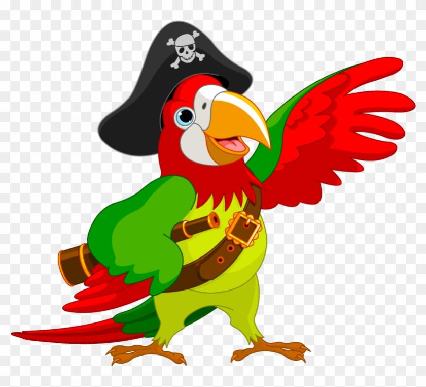 Pirate Parrot Piracy Jack Sparrow Clip Art - Pirate Parrot Clip Art #69265