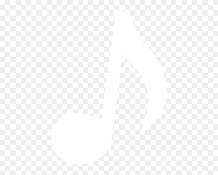 Single Musical Notes - White Music Notes Transparent #69312