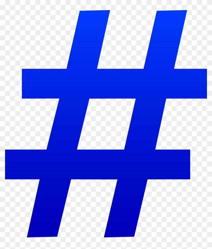 Blue Number Symbol - Number Sign Clipart #69353