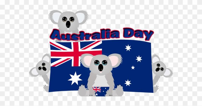 Koala With Australia Flag #69417