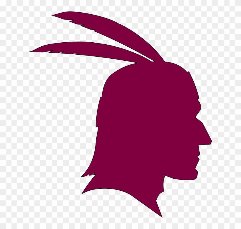Head Thanksgiving Profile November Indian American - Native American Silhouette #69506