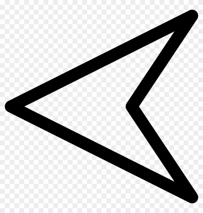 Free Vector Plain Arrow Clip Art - Left Arrow White #69560