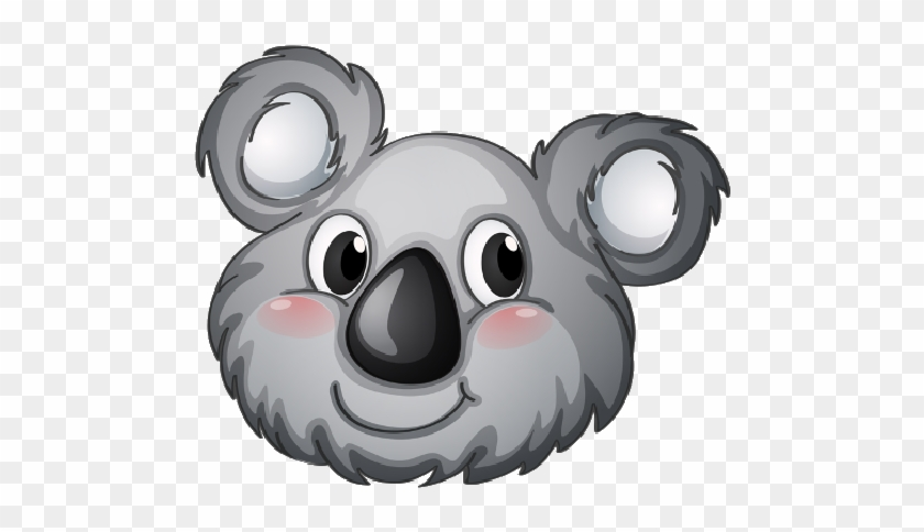 Cartoon Baby Koala Bear On A Transparent Background - Herma Sticker: 15397 - Multi Kleuren #69634