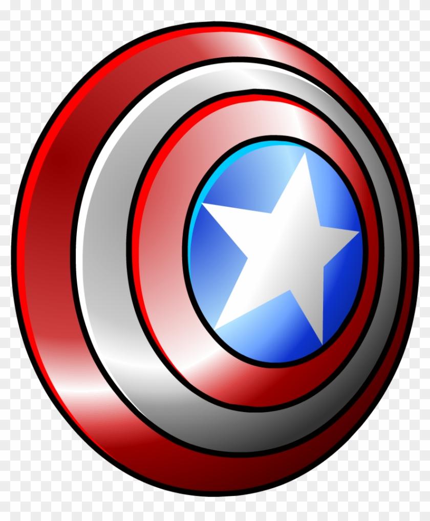 America Clipart Captain America Shield - Captain America's Shield Png #69643