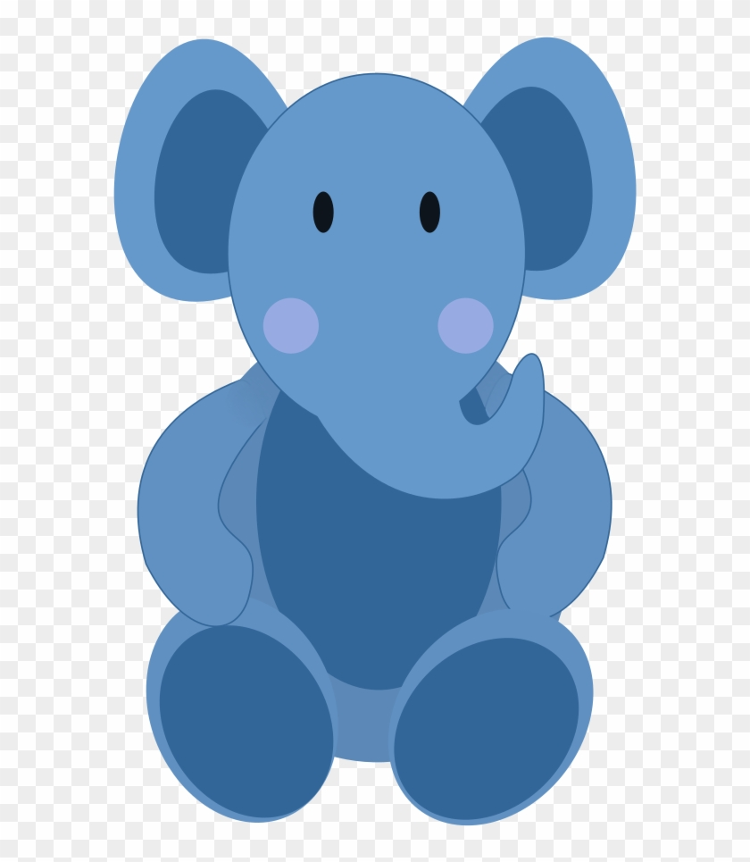 Clipart Baby Elephant - Baby Stuffed Purple Elephant Greeting Cards #69669
