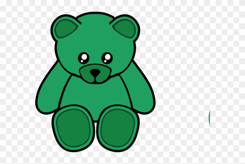 Bear Clipart Green - Teddy Bear Shower Curtain #69757