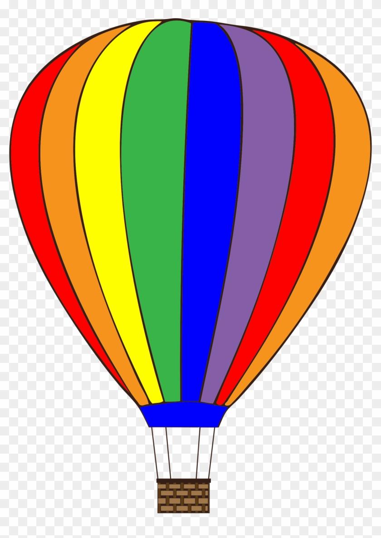 Colorful Hot Air Balloon - Clipart Hot Air Balloon #70105