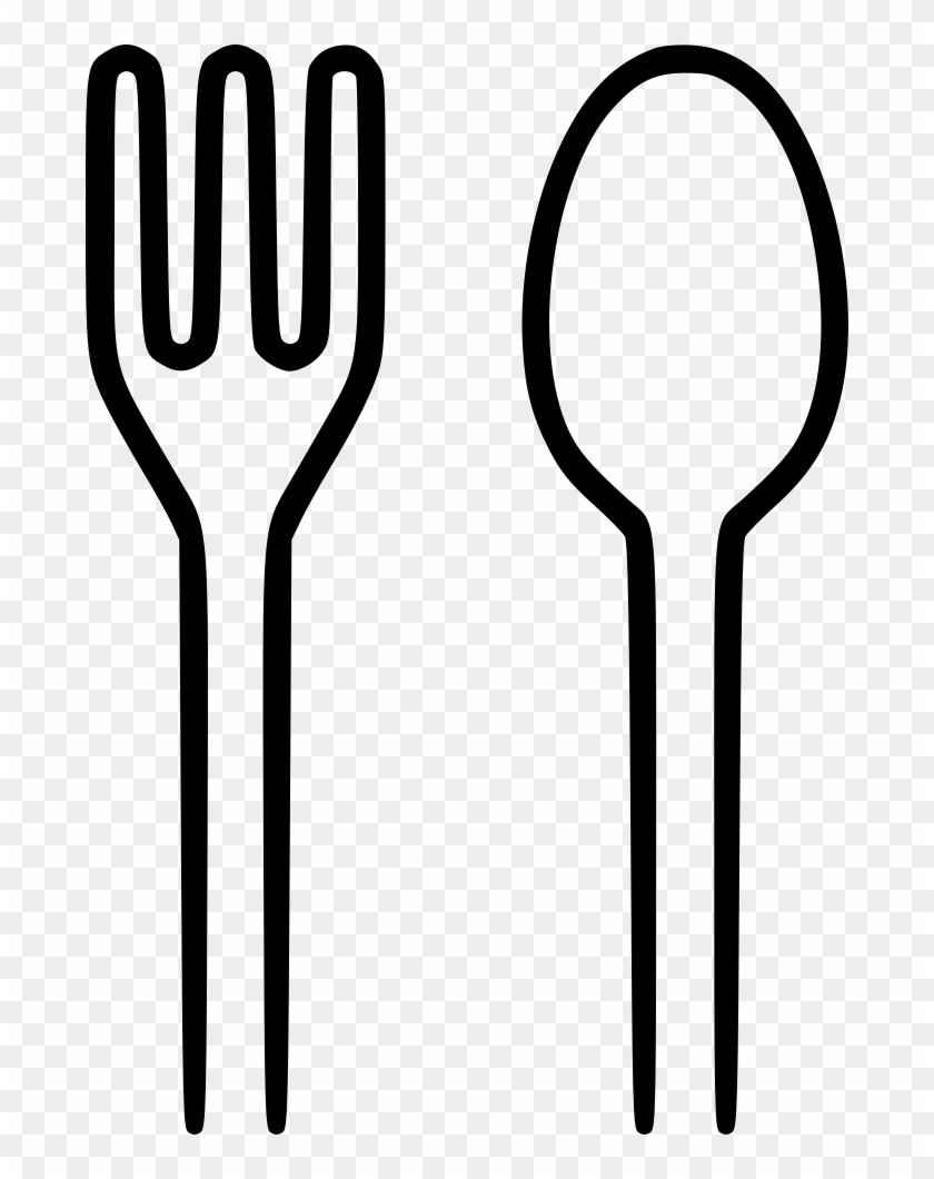 Spoon And Fork Clipart - Spoon And Fork Png #70135