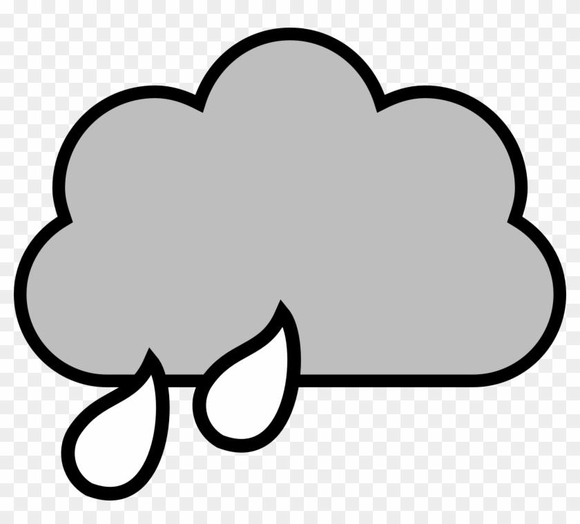 Cloudy Clipart Black And White - Rain Cloud Clipart #70170