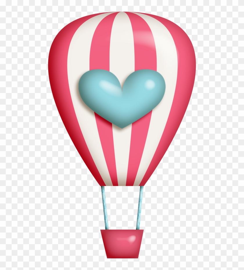 Hot Air Balloon Clipart Kawaii - Cute Hot Air Balloon Dot Clipart #70335