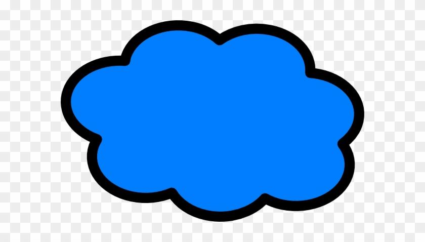 Blue Cloud Outline Clip Art Png - Nube Vector Png - Free