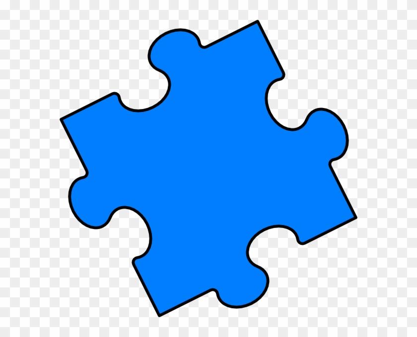 Blue Puzzle Piece Clip Art - Jigsaw Pieces Clip Art #70803