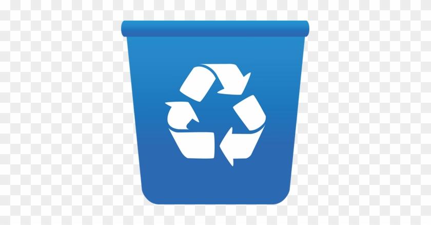 Raindrop - Blue Recycle Bin Png #70820