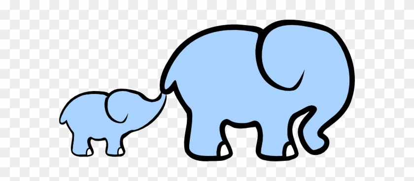 Baby Elephant And Adult Elephant Clip Art - Asian Elephant Clip Art #70840