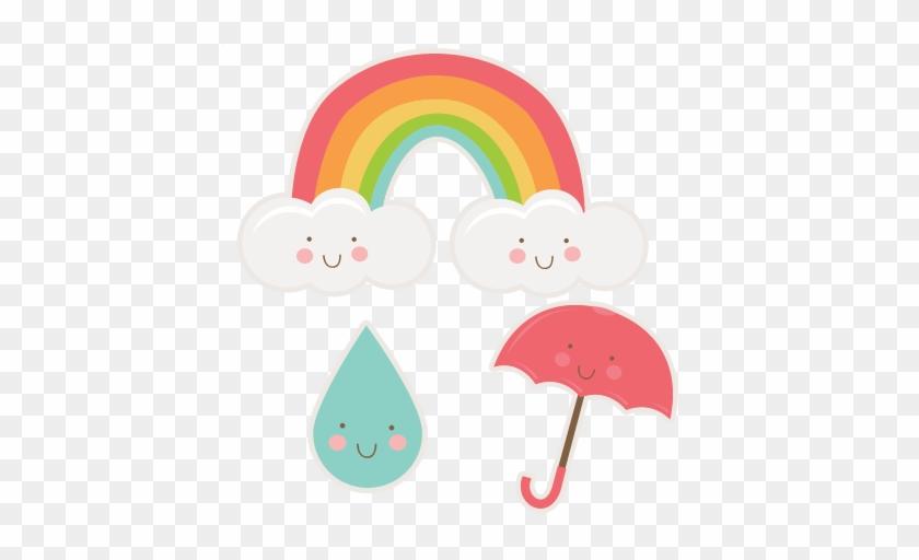 Happy Spring Set Svg Cutting Files Rainbow Svg Cut - Tag Arco Iris Chuva De Benção #70885