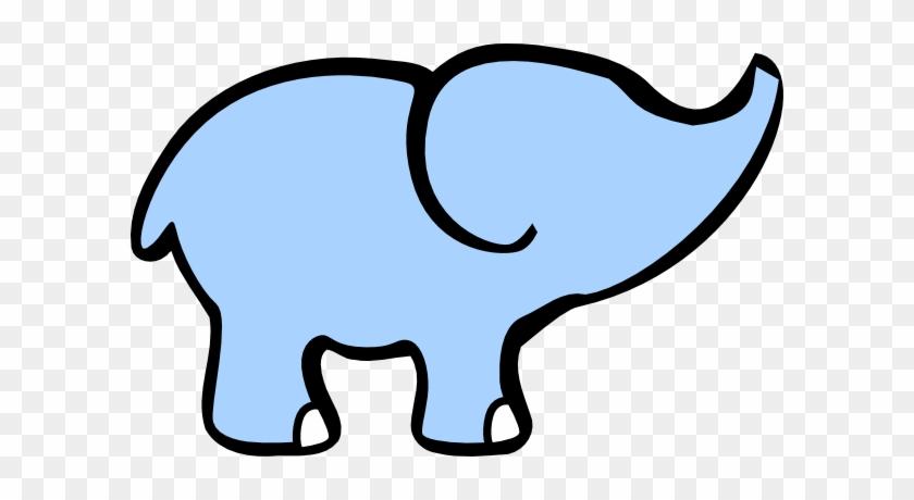 Baby Elephant And Adult Elephant Clip Art - Simple Cartoon Elephant #70898
