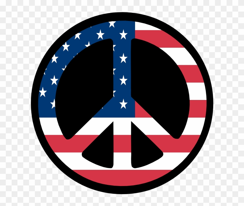 2010 Flagartist - - Peace Sign With American Flag #71290