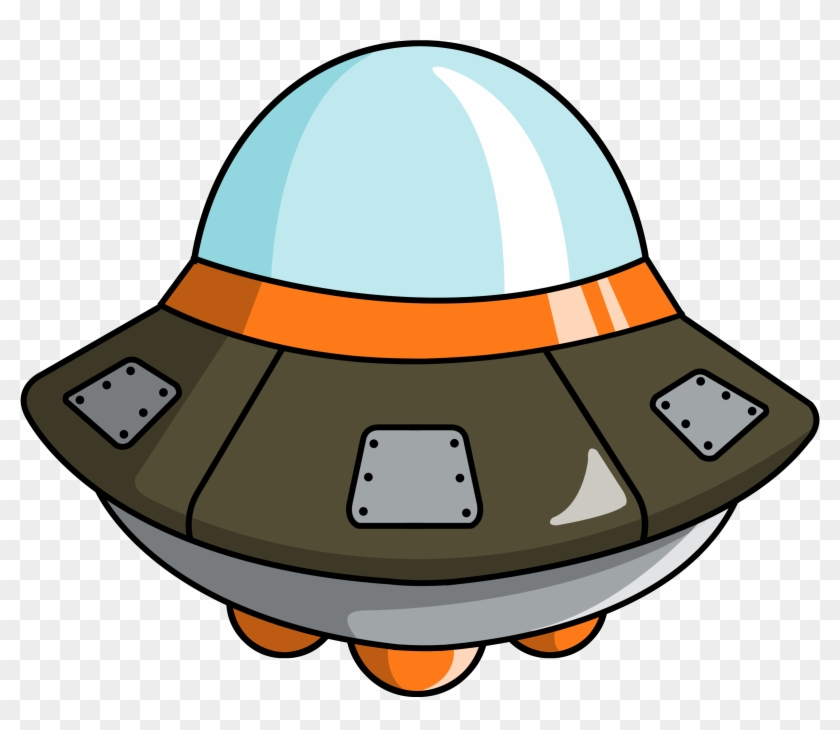 Free To Use Public Domain Space Clip Art - Alien Spaceship Cartoon Png #71390