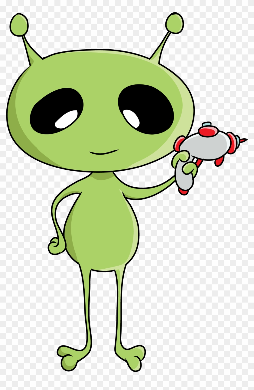 Free To Use Public Domain Space Clip Art - Cartoon Alien Clipart #71395