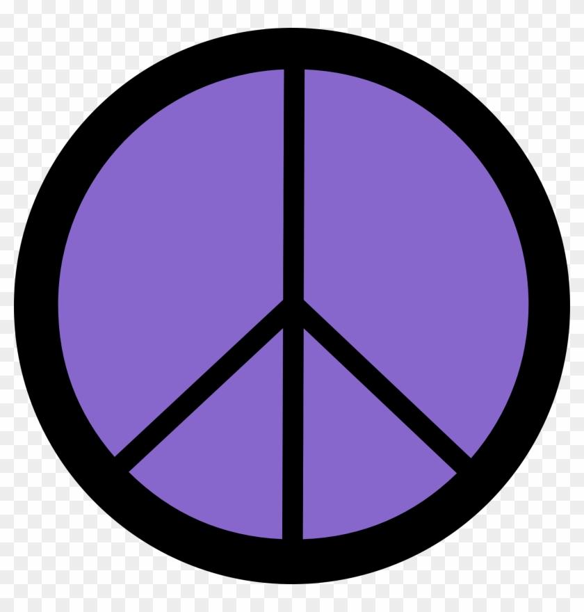 Purple Clipart Peace Sign - Make Love Not War Peace Sign #71464