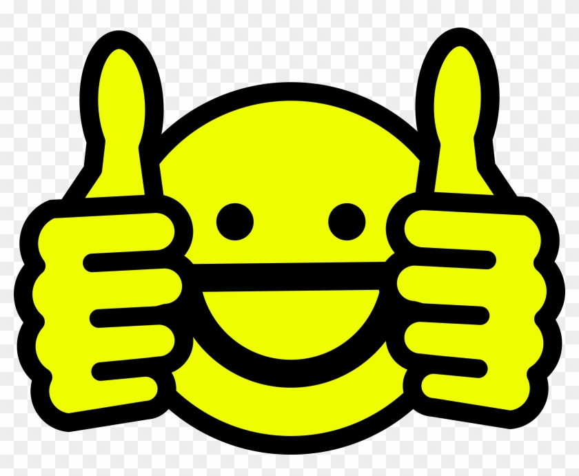 Happy Clipart Pictures - Thumbs Up Emoji Black And White #71540