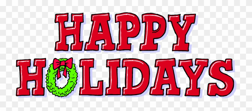 December Holiday Border Clip Art - Happy Holidays Graphic #71654