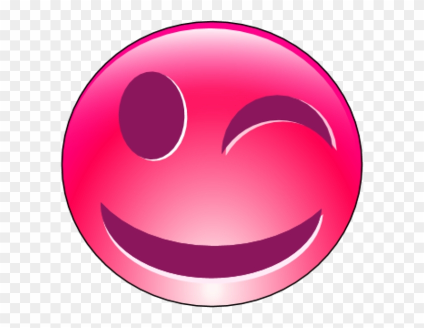 Smiley Face With Closed Eyes Clipart - Pink Happy Faces Clip Art #71666