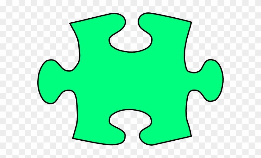 Green Jigsaw Puzzle Piece Large Clip Art - Jigsaw Puzzle Piece Clipart #71691