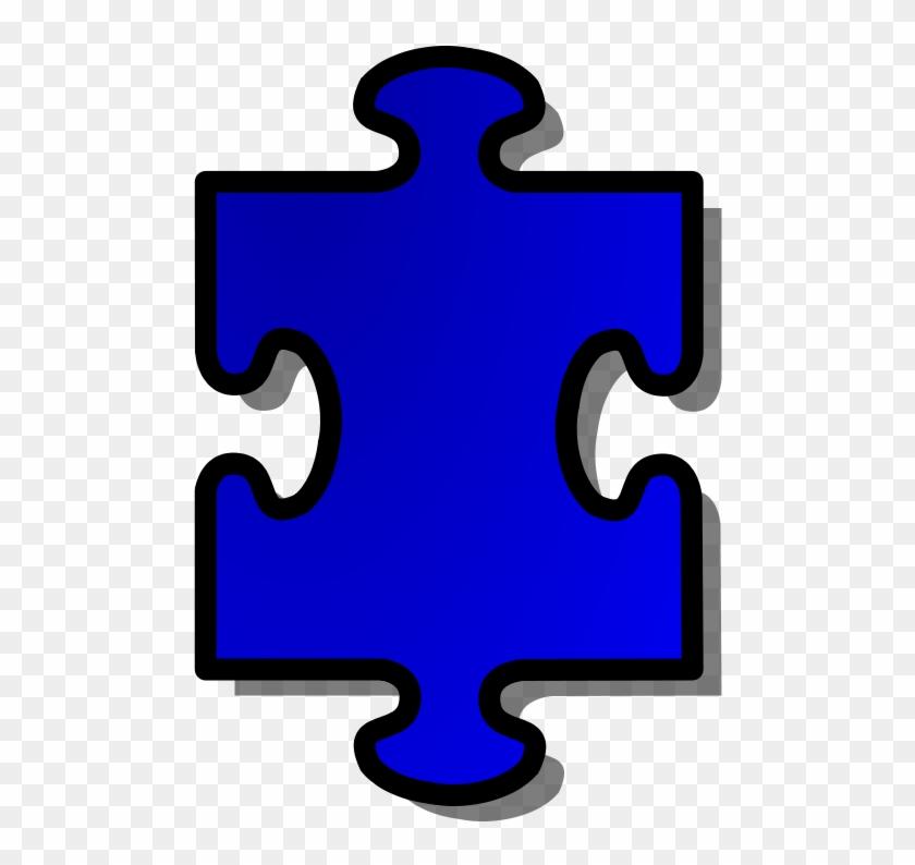 Free Vector Jigsaw Blue Puzzle Piece Clip Art - Blue Autism Puzzle Piece #71724