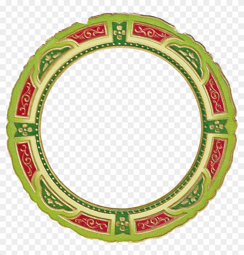 Christmas Picture Frame Clip Art - Circle #71769
