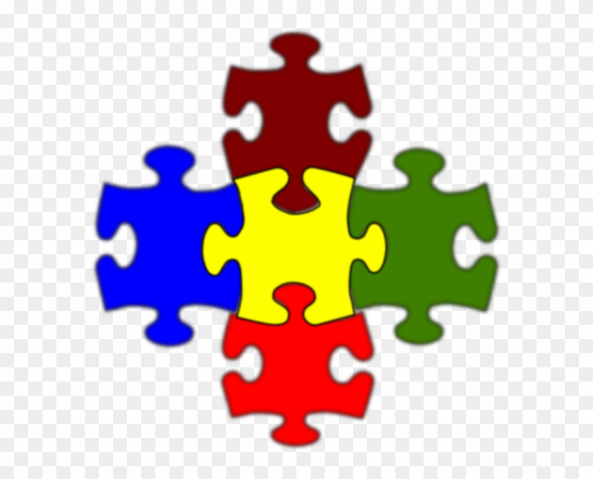 jigsaw white puzzle piece large clip art at clker 5 piece jigsaw