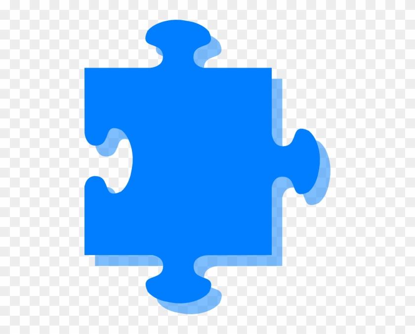 Purple Puzzle Piece Clipart - Blue Puzzle Png #71781