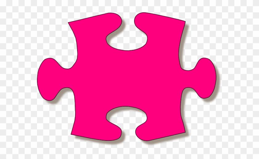 Jigsaw Purple Puzzle Piece Large Clip Art At Clkercom - Jigsaw Puzzle #71814