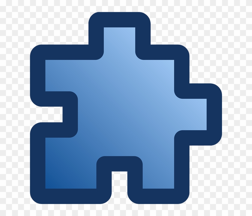 Free Vector Icon Puzzle Blue Clip Art - Puzzle Piece Pixel Art #71860